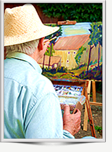 Senior painting class