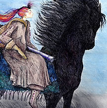 Girl on Horse Artwork