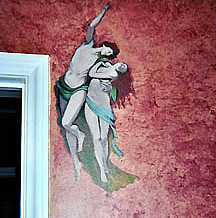 Embracing Couple Mural