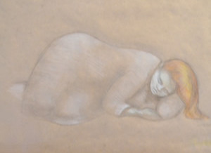 Sleeping Girl Pastel