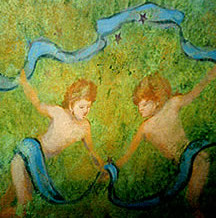 Cherubs Playing Mural