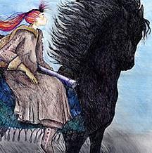 Girl on Horse Artwork