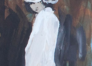 Single Woman in White