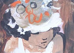 Woman in White Closeup