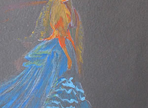 Girl in Blue Pastel