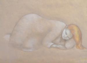 Sleeping Girl Pastel