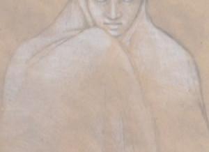 Village Woman Pastel